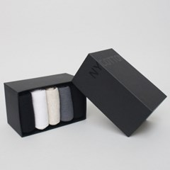 BLW08 여성 장목 168골지 5족 양말선물세트