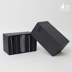 3007 신사 스트라이프 장목 정장 5족 양말선물세트