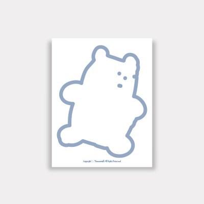 one gummy blue 떡메모지