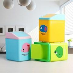 스윙 사각 미니 휴지통/책상 사무실 탁상용 쓰레기통