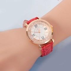 넬슈 여성 손목시계(레드) /패션시계 가죽손목시계