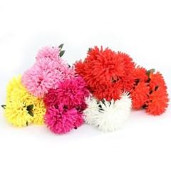 3+2행사 팝데이지 부쉬 고급조화 산소꽃 성묘꽃 납골당꽃