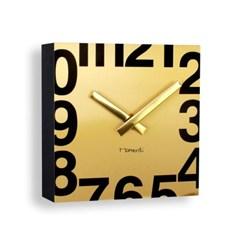 [Momenti]골드 사각 벽시계_19cm /예쁜벽시계(1371048)