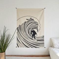 서핑 드로잉 패브릭 포스터 / 가리개 커튼