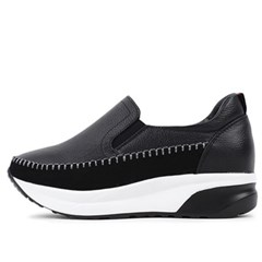 kami et muse 5.5cm tall up stitch leather sneakers_KM19w284
