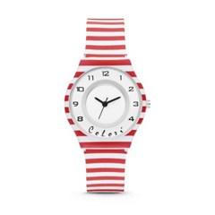 [컬러리] 레드스트랩 어린이시계 패션시계 네델란드 수입정품