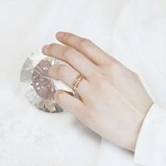 [디유아모르] 18k 반지 H큐빅 링_(1086412)