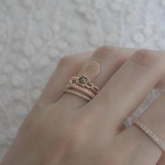 [디유아모르] 18k 반지 그린다이아몬드 코인 링_(1086394)