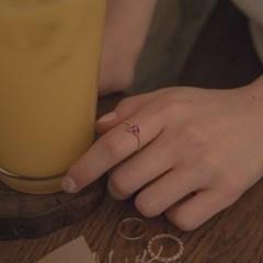 [디유아모르] 18k 반지 핑크 루비 하트 링_(1086393)