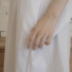 [디유아모르] 18k 반지 베이직 큐빅 링_(1086392)