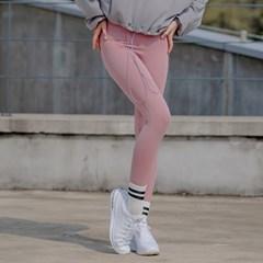 [SA5292] 코튼 기모 레깅스 핑크