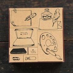 [OURS] Stationary No.1 DIY Stamp Set