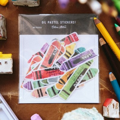 [OURS] Crayon Sticker Pack