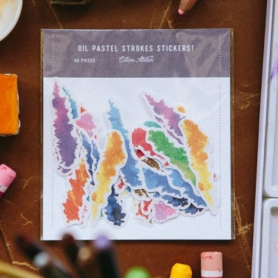 [OURS] Crayon Strokes Sticker Pack