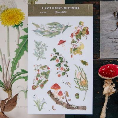 [OURS] Wild Plants II print-on stickers