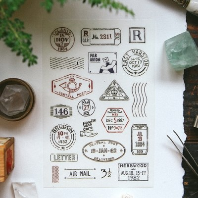 [OURS] Postmark Transfer Sticker