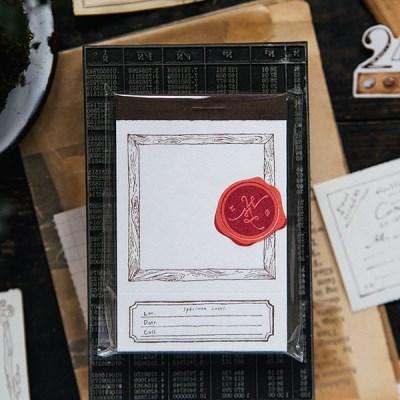 [OURS] Wooden frame letterpress label book