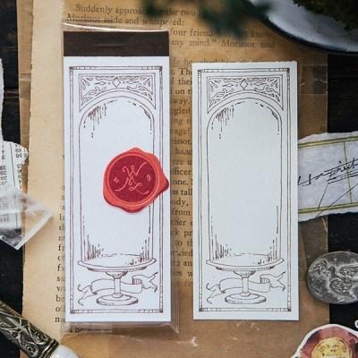 [OURS] Glass Dome letterpress label book
