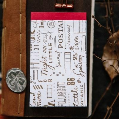 [OURS] Script Letterpress Label Book