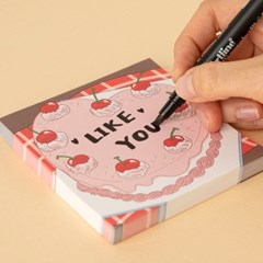 [또자] 하트 케이크 메모지