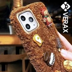 아이폰11 큐티 쿠키 베어 포근 커버 젤리 케이스 P487_(2457277)