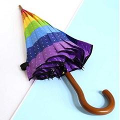 짱짱한 14k살대 별무지개 56폰지 장우산 색상랜덤