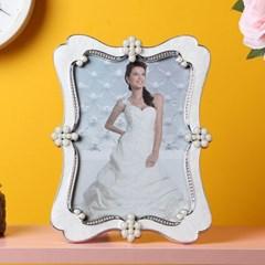 엘리아 진주펄 사진 액자(4x6)/엔틱 탁상용 포토액자