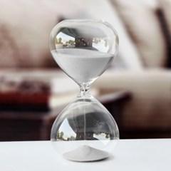 유리 모래시계(60분-화이트)/사우나시계 인테리어소품