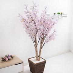 쌍대벚꽃나무 170cm 우드 5-5 조화 인조 나무 인테리어_(1689413)