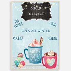 거실 북유럽 아이방 카페 인테리어 그림 액자 포스터 스노우 카페