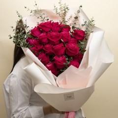 대형꽃다발 샹그리아 장미 꽃다발 [수도권 퀵배송]