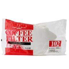 카펙 손잡이 종이 커피 필터 칼리타형 2-4인용 화이트_(1280501)