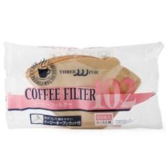 카펙 손잡이 종이 커피 필터 칼리타형 2-4인용 브라운_(1280500)