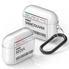 PLAN.A 에어플레인 티켓 시리즈 에어팟 프로 TPU 투명 케이스