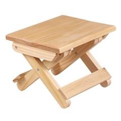 원목 접이식 간이 의자/미니사이즈 스툴 보조의자