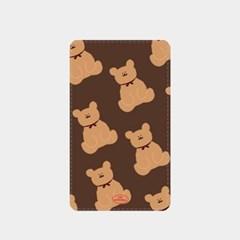 adult bear pattern brown 보조배터리_(880618)