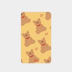 adult bear pattern yellow 보조배터리_(880617)