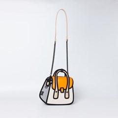 [점프프롬페이퍼] Owl Handbag_Orange