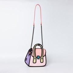 [점프프롬페이퍼] Owl Handbag_Pink