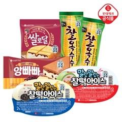 앙쌀찰찰(찰떡아이스/찰옥수수/앙빠빠샌드/쌀로달)X12개_(2238715)