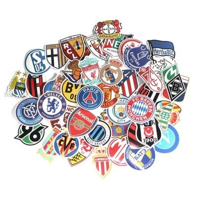 해외 유명 축구클럽 앰블럼 스티커 50장 모음(캐리어 노트북 스티커)