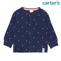 마린 패턴 티셔츠 네이비_126H183_(10093)