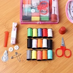 휴대용 15색 실바늘세트/옷수선용 반짇고리 쌈지세트