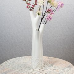 [아트피플-V78]나무 도자기 인테리어 꽃병/장식 화병