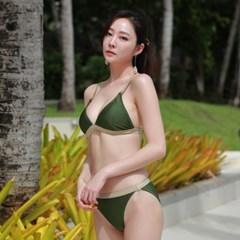 글로씨 비키니 카키_Glossy Bikini Khaki