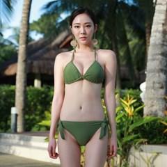 기본 삼각 비키니 카키_Basic Triangle Bikini KHAKI