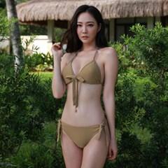 기본 삼각 비키니 베이지_Basic Triangle Bikini