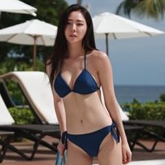 기본 삼각 비키니 네이비_Basic Triangle Bikini Navy