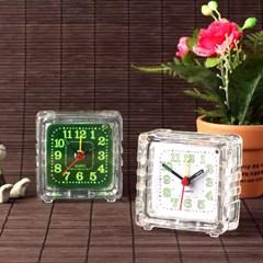 미니 탁상시계 투명디자인 간편알람시계