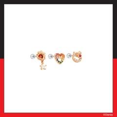 [미키마우스] 미니마우스 달과별 레인보우 하트 피어싱 OTEP20105QPX